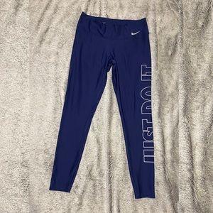 Nike Dark Blue Active Wear Tights